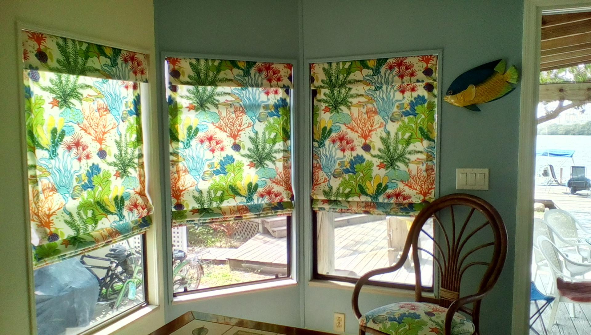photos fabric roman shades